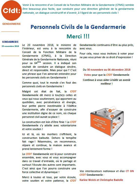 6a4d8ab6149 Personnels civils de la gendarmerie