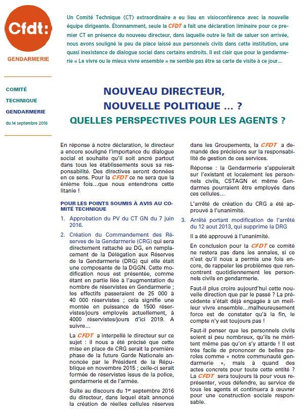 221765f0bcb Comité Technique Gendarmerie