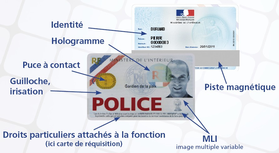 Carte Professionnelle Police Nationale.Carte Professionnelle Securisee