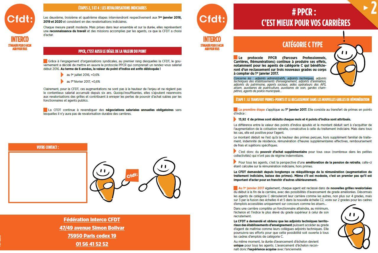 Ppcr Categorie C 2017 1ere Annee De L Application Du Protocole